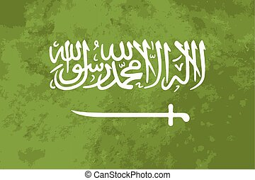 True proportions Saudi Arabia flag with texture