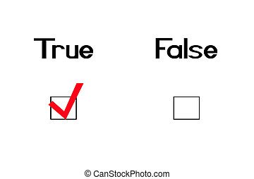 True-straight - True and false question with a checkmark