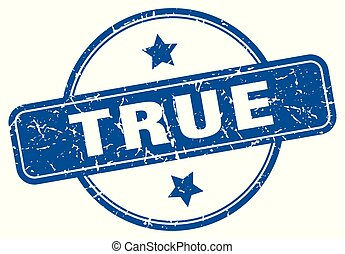 True - true round grunge isolated stamp