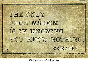 true Wisdom-print - true wisdom is in knowing you know...