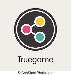 Truegame - Cryptographic Currency Symbol. - Truegame - Logo ...
