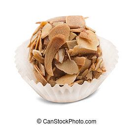 truffle candy isolated on white background