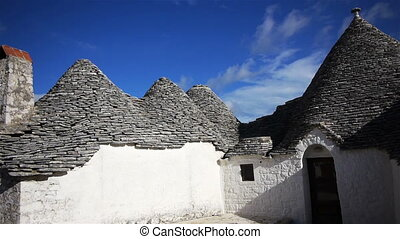 Trulli - traditional homes in Alberobello, Italy....