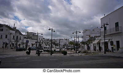 Trulli - traditional homes in Alberobello, Italy -...