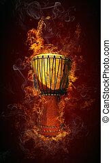 trumma, afrikansk