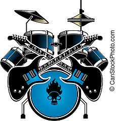 trumma, cymbals