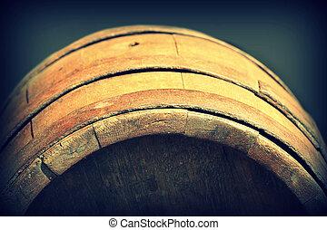 trumma, gammal, trä, årgång, foto