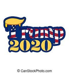 Trump 2020 - vector illustration