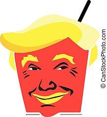 Trump food template, trump t shirt design