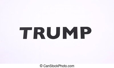 TRUMP prohibition symbol, refuse the President of USA, ban...