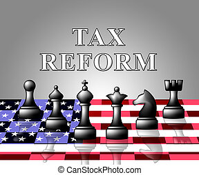 Trump Tax Reforms To Change Taxation System In America - 3d...