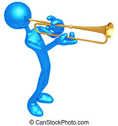 Trumpet Announcement - 3D Concept And Presentation Figure