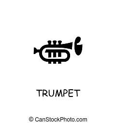 Trumpet flat vector icon