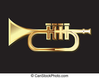 Trumpet in gold