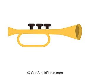 trumpet instrument musical icon