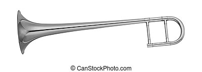 Trumpet isolated on a white background