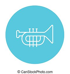 Trumpet line icon. - Trumpet line icon for web, mobile and...