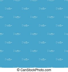 Trumpet pattern vector seamless blue