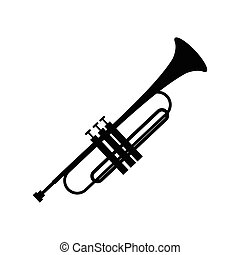 Trumpet simple black icon