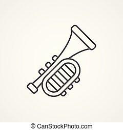 trumpet vector icon sign symbol