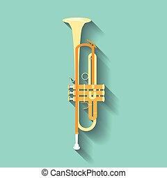 Trumpet vector symbols