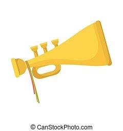 trumpet wind instrument musical icon