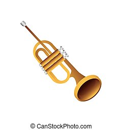 trumpet wind musical instrument detailed icon