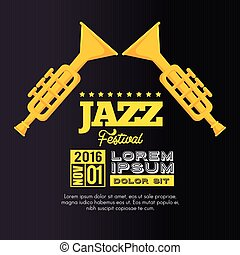 trumpets festival jazz music design