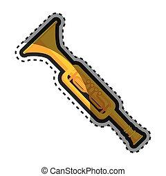 trumphet musical instrument icon