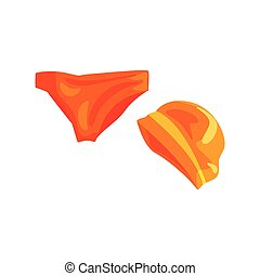 Trunks and silicone cap for swimming pool