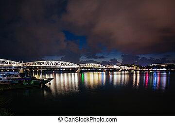 Truong Tien Bridge Hue in Vietnam