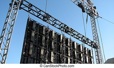 truss and video wall - a shot of some truss and video wall...