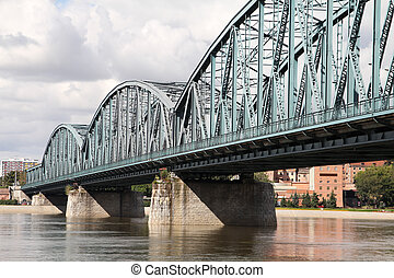 Truss bridge - Poland - Torun famous truss bridge over...