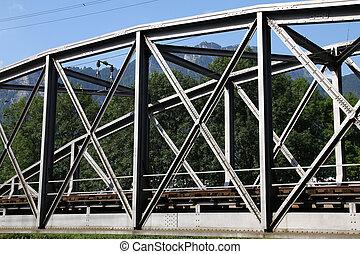 Truss bridge - Switzerland - truss bridge steel elements....