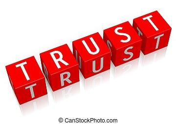 Trust - 3D cube word