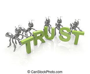 Trust 3d word concept
