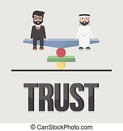 Trust business concept illustration