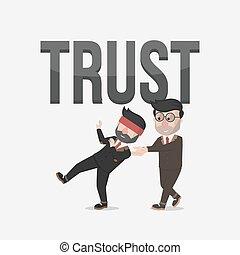 trust business man  illustration de