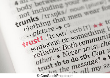 Trust definition in the dictionary