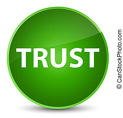 Trust elegant green round button