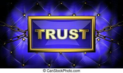 trust  on velvet background