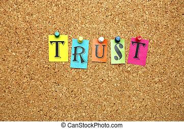 Trust pinned on noticeboard