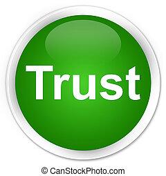 Trust premium green round button