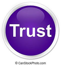 Trust premium purple round button
