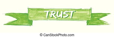 trust ribbon - trust hand painted ribbon sign