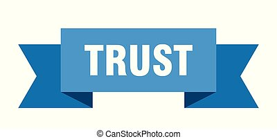 trust ribbon. trust isolated sign. trust banner