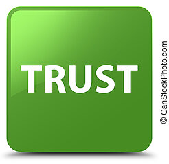 Trust soft green square button