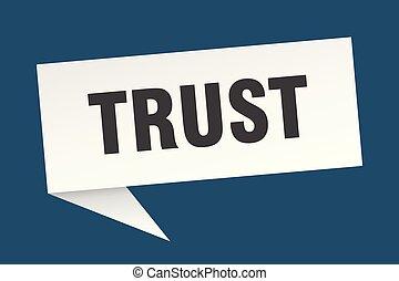 trust speech bubble. trust sign. trust banner