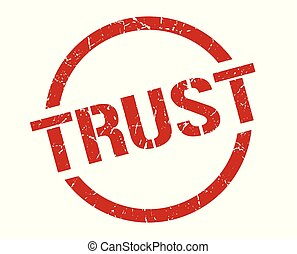 trust stamp - trust red round stamp