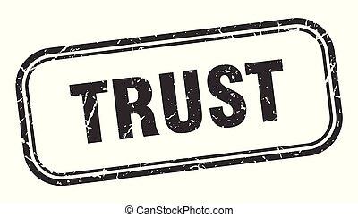 trust stamp. trust square grunge sign. trust